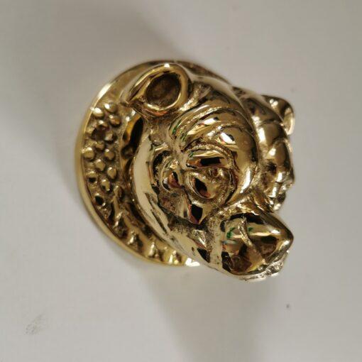 Solid Brass Round Staffordshire Bull Terrier Door Knocker