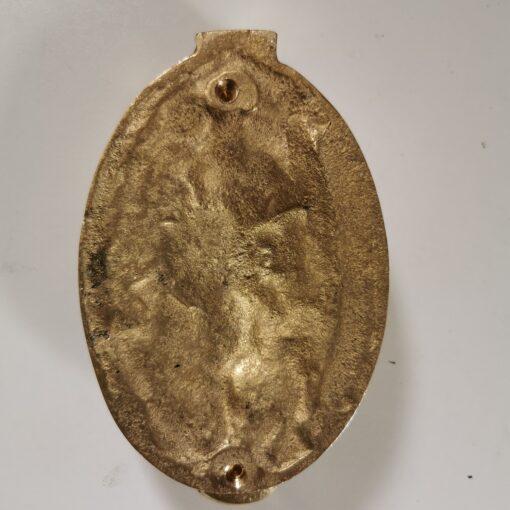 Solid Brass Oval Lion Door Knocker