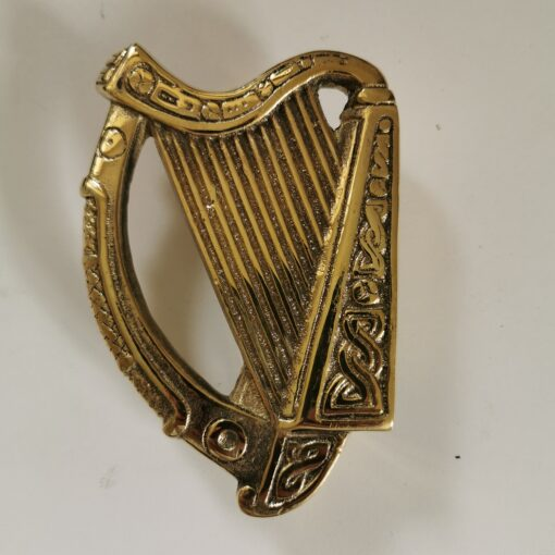 Solid Brass Harp Design Door Knocker