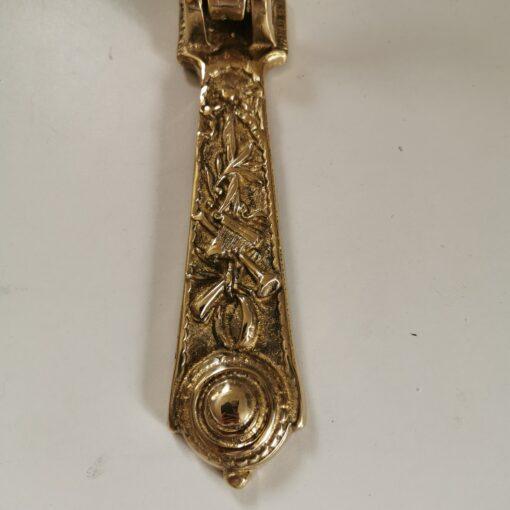 Solid Brass Long Cherub Design Door Knocker