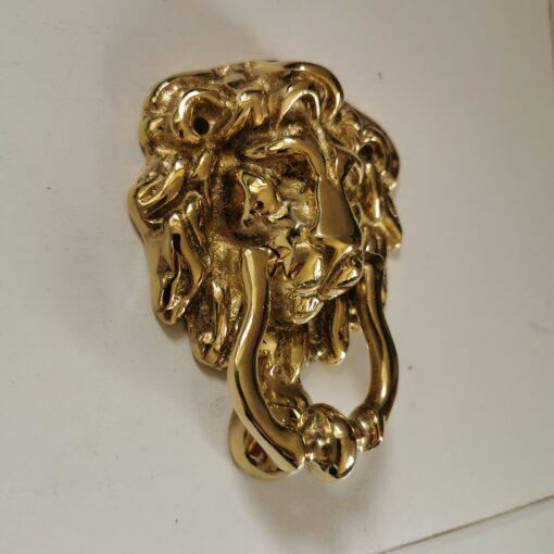 Solid Brass Lion Design Door Knocker