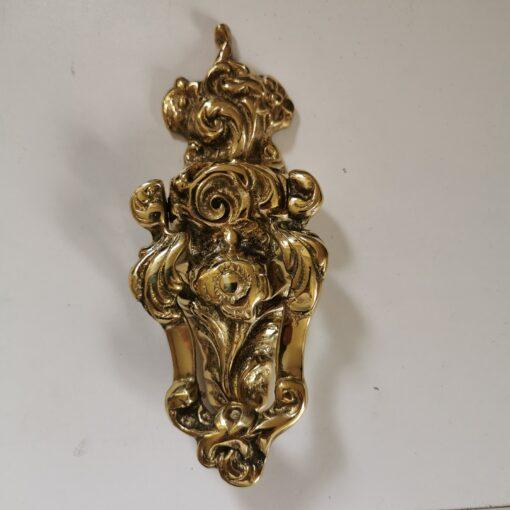 Solid Brass Long Centre Rose Design Door Knocker