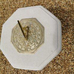 Concrete Round Swirl Tall Plinth Cream Octagonal Top Oct Morning Glory Sundial