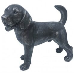 Standing Labrador Retriever Dog Statue - Antique Finish