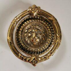 Solid Brass Round Lion Design Door Knocker