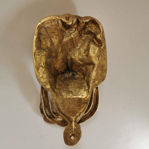 Solid Brass Friendly Lion Design Door Knocker