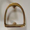 Solid Brass Horse Stirrup Design Door Knocker