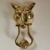 Solid Brass Fox Extra Large Design Door Knocker