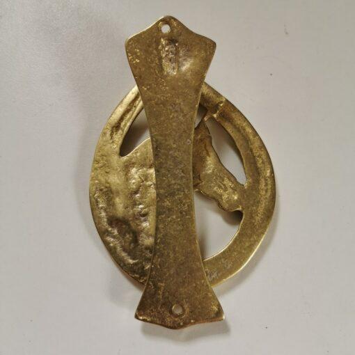 Solid Brass Small Horsehead Design Door Knocker