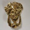 Solid Brass Small Medusa Design Door Knocker