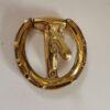 Solid Brass Horseshoe Eggbutt Design Door Knocker