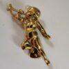 Solid Brass Cherub And Flute Design Door Knocker