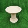 Concrete Octagonal Plinth With Birdbath Top Cream