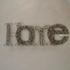 Diamante Sparkle Home Wall Art With Champagne Jewels