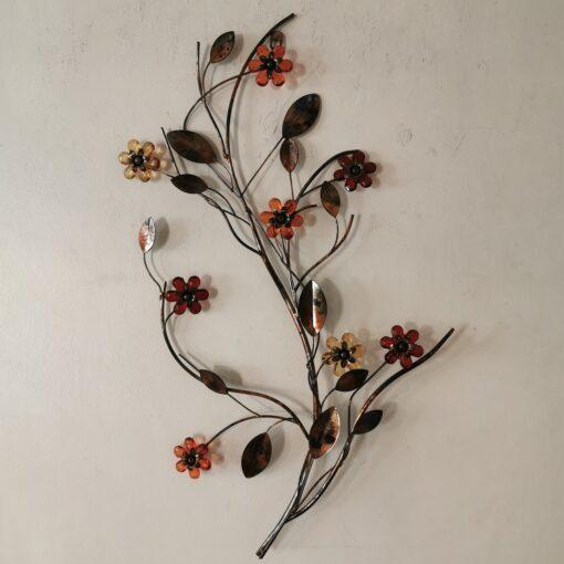 Autumn Jewel Floral Multi Metal Wall Art