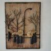 Lamp Post Tree Scene Metal Wall Art - Right