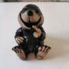 Concrete Sitting Mole Garden Ornament - Black