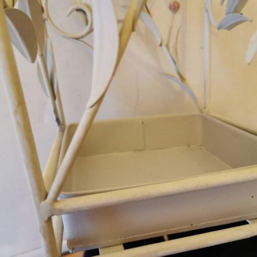 Square Leaves Umbrella Stand Cream Waste Bin