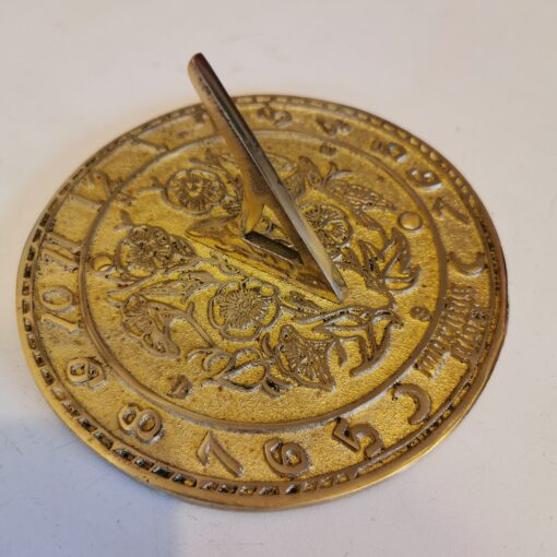 Morning Glory 136mm Brass Sundial With Fixing Holes
