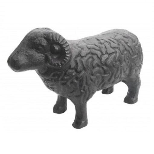 Cast Iron Standing Ram Sheep Door Stop