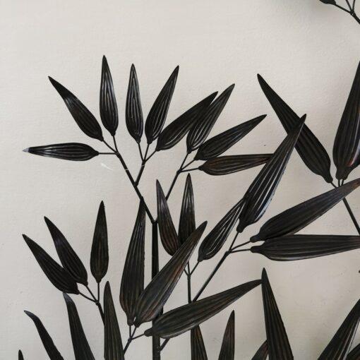 Dark Bronze Large Bamboo Metal Wall Art