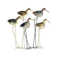 Marvell's Five Wading Birds Metal Wall Art