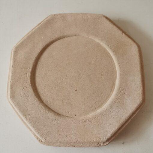 Small Octagonal Concrete Base - Cream