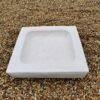 Square Plain Concrete Birdbath Top Cream