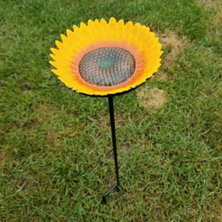 Sunflower Bird Feeder On Spike Cast Iron
