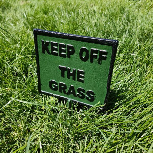 Cast Iron Keep Off The Grass Sign