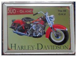 Vintage Harley Davidson - Duo-Glide Metal Wall Plaque Sign