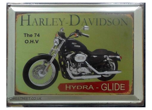 Homestreet Gifts Classic Harley Davidson Large Vintage Metal Motorcycle Wall Sign - Choose Your Design (HYDRA GLIDE)