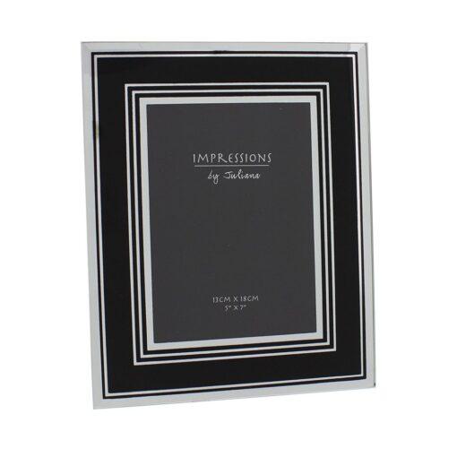 Impressions Mirror Glass Photo Frame Black