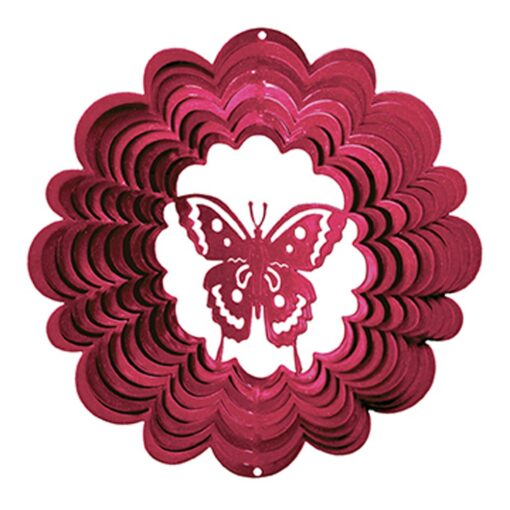 Iron Stop 1045-12-7A 30cm Large Butterfly Classic Wind Spinner - Red