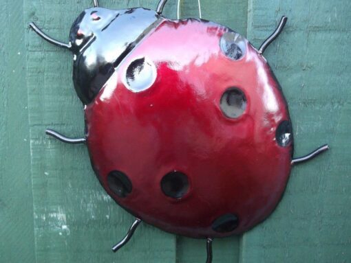 Ladybird Garden Wall Art Ornament - Fully Weatherproof