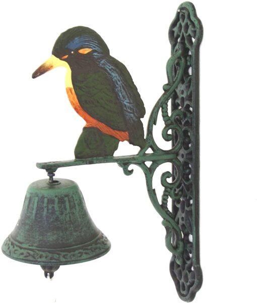 Marvells Kingfisher Wall Bell, Green, 20x10x26.5 cm