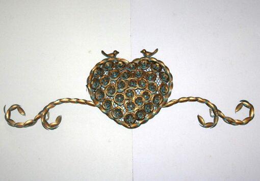 Gold Heart Scroll Design (76cm) Metal Wall Art Decor