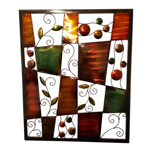 Metal Floral Abstract Wall Art