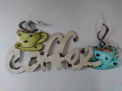 Metal Wall Art Rustic Coffee Sign