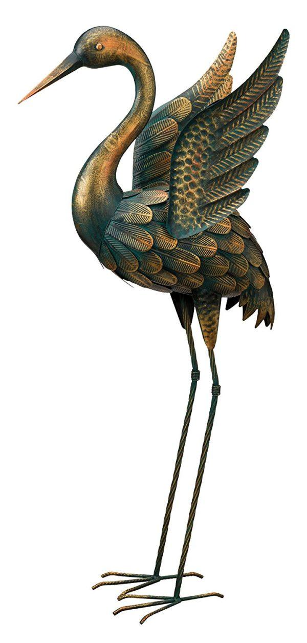 "Regal Art & Gift Patina Flying Crane 34"" - Down"