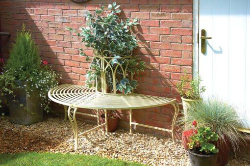 Versailles Half Tree Seat: Elegant Garden Seat for up to 3 People